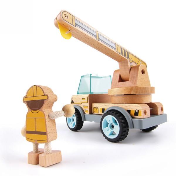 VAROOM Baufahrzeug:Kranwagen mit Schieber,ConstructionVehicle: Crane