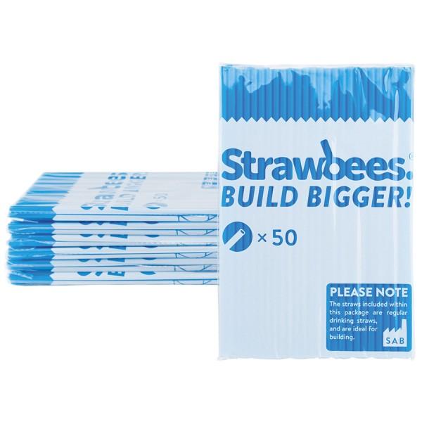 Straws blue/Strohhalme blau 50 pcs.