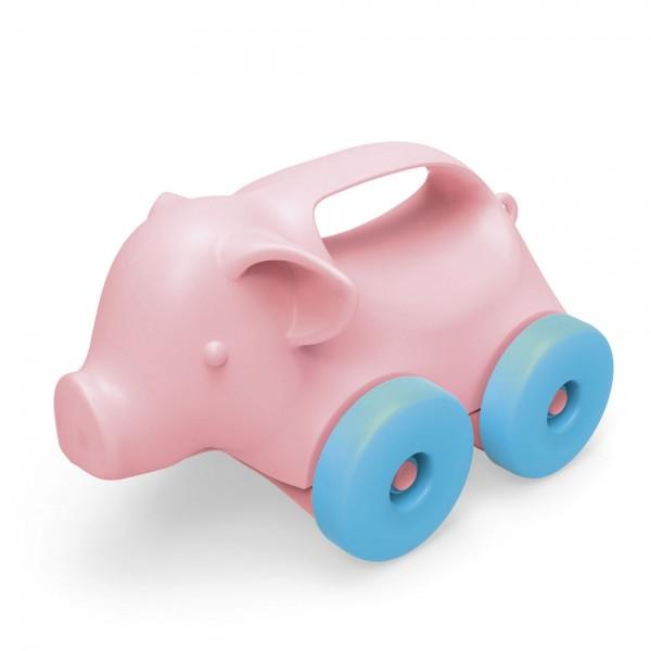 Schiebetier Schwein / Push toy pig