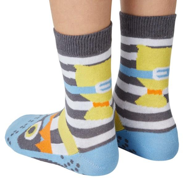 Räuber Catch me Sockenpuppe SPÜRNASEN Größe 27-30 (5-6 J.)