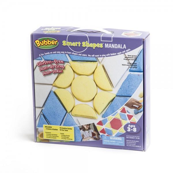Smart Shapes Mandala Set mit 4 Farben Bubberknete / incl. 4 colored Bubber