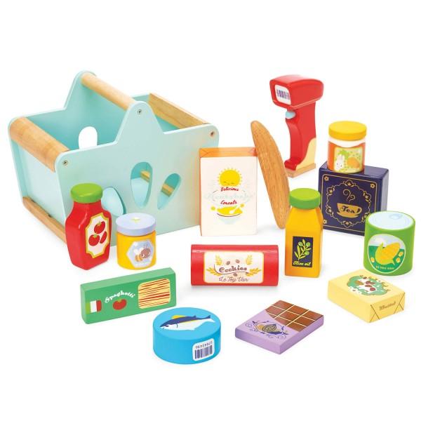 Gefüllter Einkaufskorb & Scanner / Groceries Set & Scanner