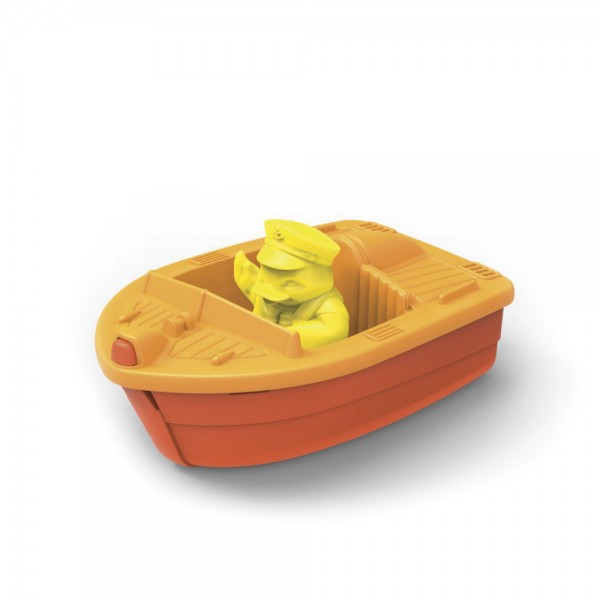 Rennboot, orange / Race Boat, orange