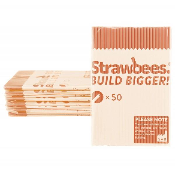Straws orange/Strohhalme orange 50 pcs.