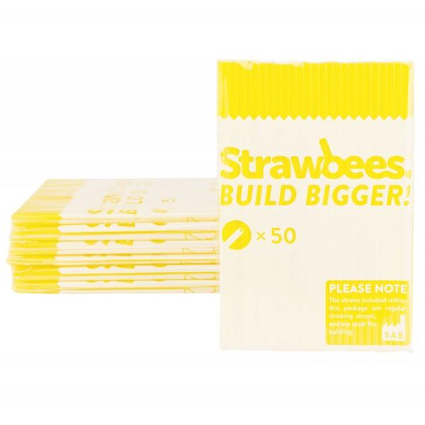 Straws yellow/Strohhalme gelb 50 pcs.