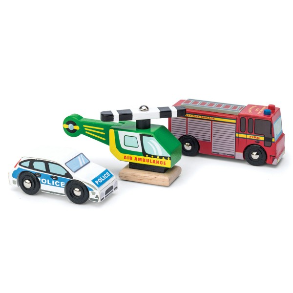 Notfall-Fahrzeuge 3er-Set / Emergency Vehicles Set