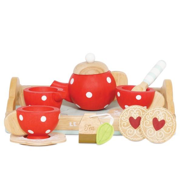 Tee-Set & Tablett / Tea Set & Tray