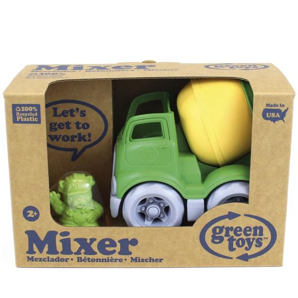 Fahrzeug Baustelle, Betonmischer - gelb/grün / Construction Truck, Mixer - gn/ye