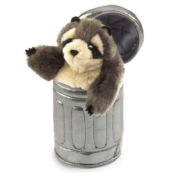 Waschbär im Mülleimer / Raccoon in Garbage Can