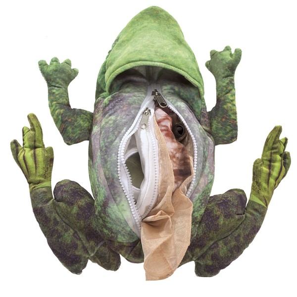 Handpuppe Folkmanis Metamorphose Frosch