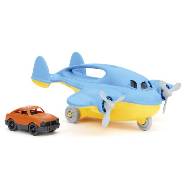 Transportflugzeug blau + Auto / Cargo plane blue + car