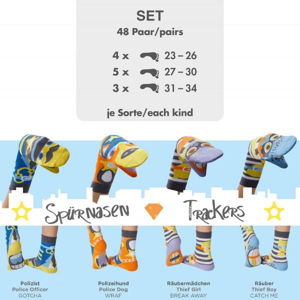 Komplettes Set 48 Paar Sockenpuppen SPÜRNASEN