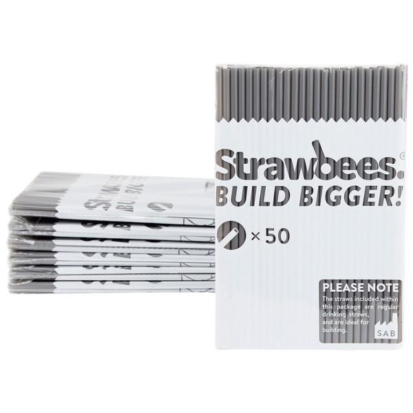 Straws grey/Strohhalme grau 50 pcs.
