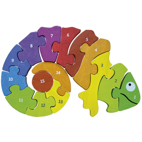 Chamäleon mit Zahlen - Counting Chameleon Puzzle