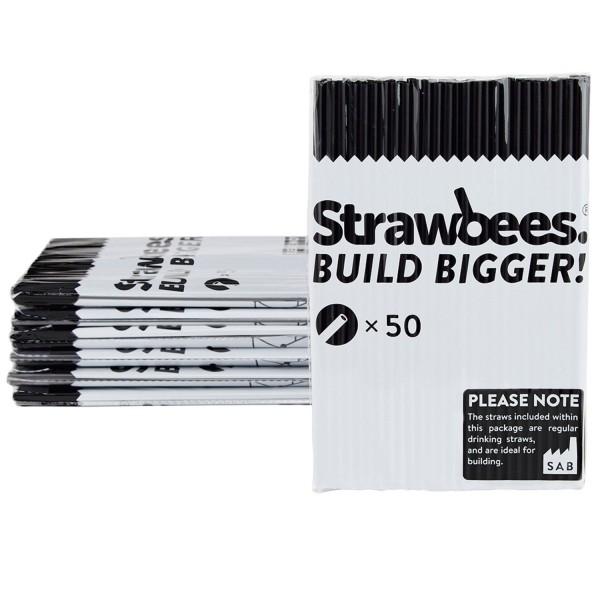 Straws black/Strohhalme schwarz 50 pcs.